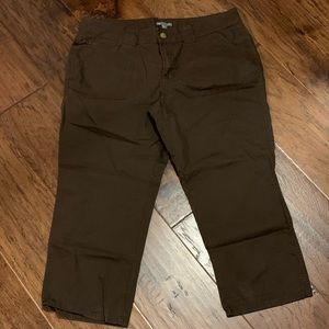 GAP Capri Brown Pants Size 14